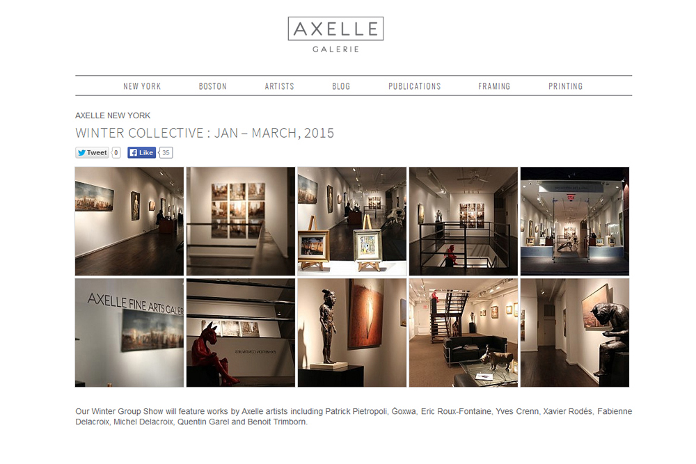AXELLE NEW YORK - WINTER COLLECTIVE : Fabienne Delacroix - JANVIER - MARS 2015