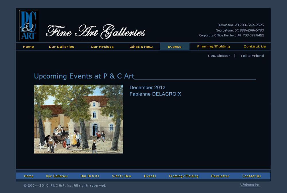 UPCOMING EVENTS AT P & C ART: Fabienne Delacroix - Décembre 2013