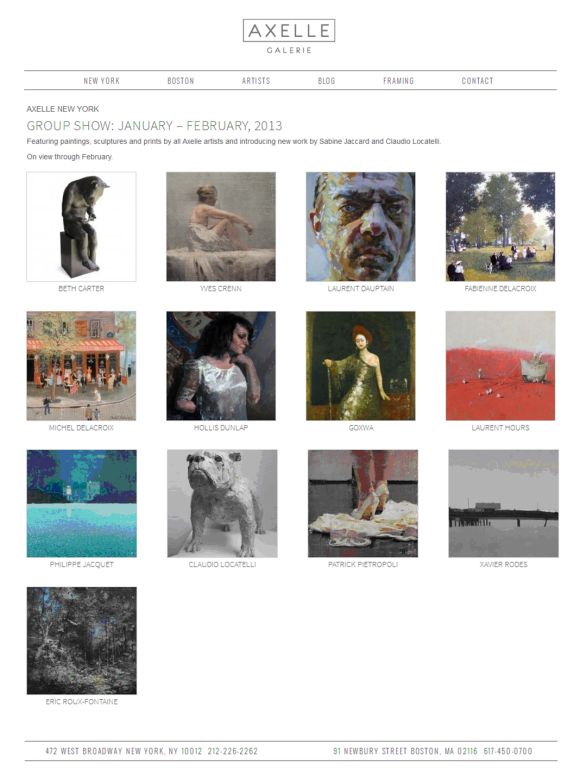 AXELLE NEW YORK : Group show - Janvier - Février, 2013