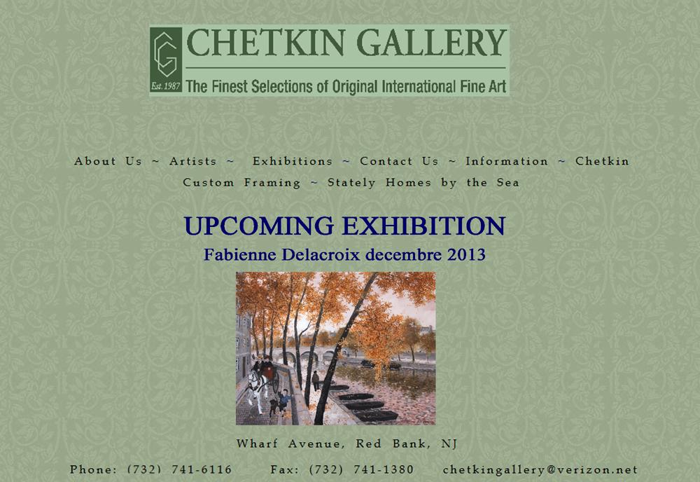 CHETKIN GALLERY UPCOMMING EXHIBITIONS : Fabienne Delacroix - Décembre 2013