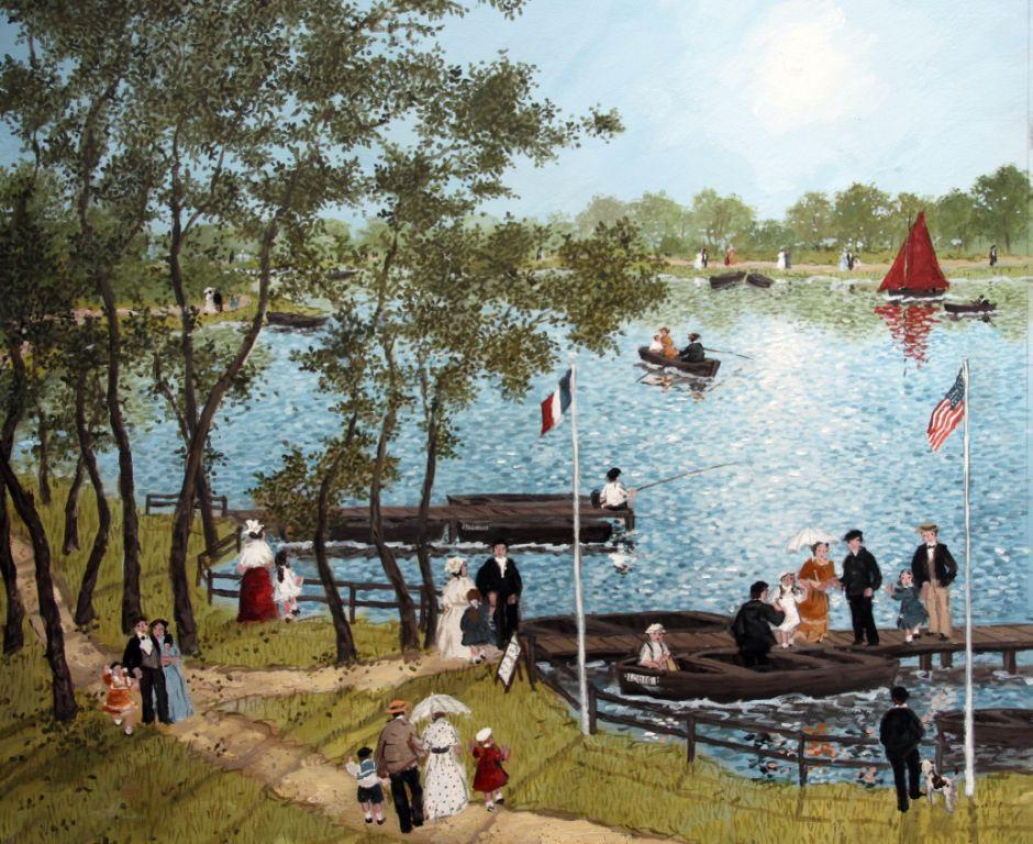 L'après midi au lac - Fabienne Delacroix - Artiste peintre