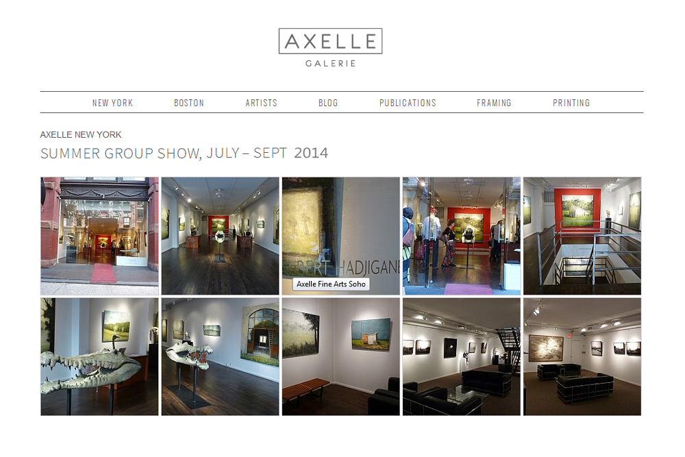 AXELLE NEW YORK - SUMMER GROUP SHOW : Fabienne Delacroix - JUILLET - SEPT 2014