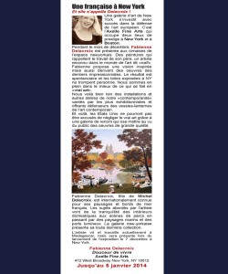 Le Billet des Arts: Une française à New York. Et elle s'appelle Delacroix !
