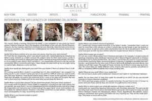 INTERVIEW: THE INFLUENCES OF FABIENNE DELACROIX