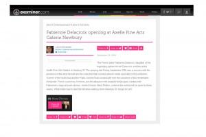 Fabienne Delacroix opening at Axelle Fine Arts Galerie Newbury